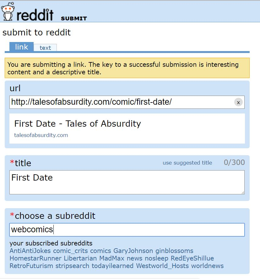 Reddit subreddit pour la datation